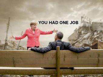 Юзеры превратили снимок Меркель иОбамы наG7 всерию фотожаб