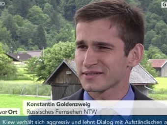 Российский журналист уволился сНТВ из-за «пропагандистского безумия»