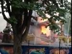 ВБрянском парке отдыха сгорела карусель