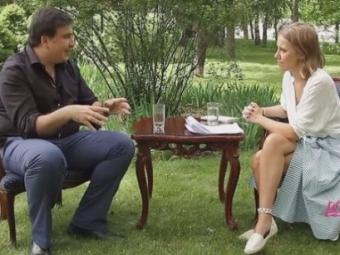 """Саакашвили дал интервью Собчак: """"Одесса похожа на Грузию 90-х годов"""""""