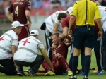 Защитник сборной РФ в отборочном матче ЧЕ-2016 повредил позвоночник