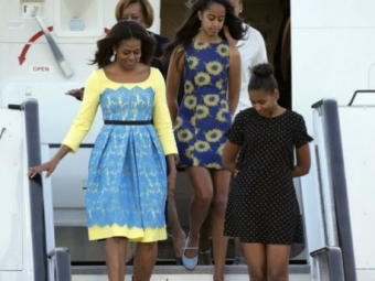 Мишель Обама надела платье цветов украинского государственного флага