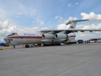 Самолет МЧСРФ доставил вРостов гумпомощь для Донбасса
