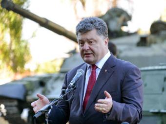 Порошенко: РФпревратила Донбасс вполигон ииспытывает там свое последнее оружие