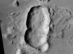 НаМарсе обнаружен уникальный гигантский тройной кратер