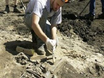 На Триумфальной площади найдены предметы 17-18 веков