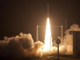 Накосмодроме Куру идет подготовка кстарту российской ракеты-носителя «Союз»