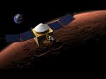 Зонд MAVEN нашел наМарсе загадочную пыль иполярные сияния