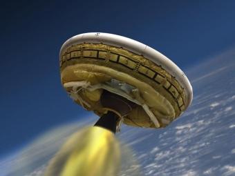 «Летающая тарелка» NASA пройдет испытания для отправки наМарс