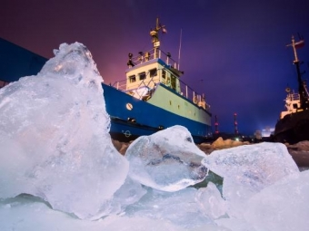 Российские разработчики создали лазер для резки льда ледоколами