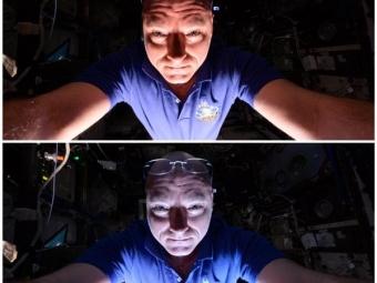 Астронавт продемонстрировал, какими могут быть селфи вкосмосе