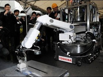 """Робот-пылесос Toshiba очистит АЭС """"Фукусима""""от радиации"""