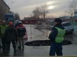 Из-за провала напроезжей части насевере Москвы встали автобусы