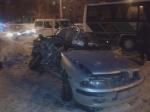 ВПерми произошло лобовое столкновение автобуса илегкового автомобиля