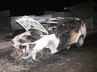 Сегодня утром вУльяновске спалили Mitsubishi Outlander