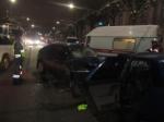 ВРязани наулице Ленина произошло лобовое столкновение легковых автомобилей