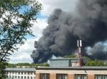 В Новосибирске произошел пожар