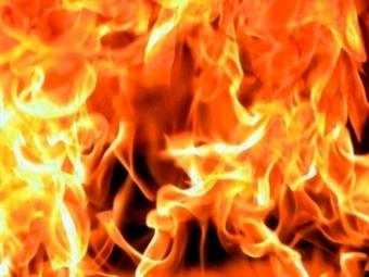 Вцентре Рязани ночью горел деревянный дом
