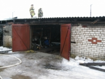 Баня сгорела сегодня ночью вЛысковском районе Нижегородской области
