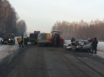 Лихач врезался вдорожных рабочих накузбасской трассе: 1 погиб, 3 пострадали