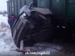 Омич пережил столкновение сжелезнодорожным составом