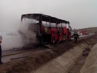 Автобус, где находились более 40 детей, горел под Ставрополем