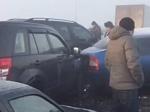Вподмосковном Жуковском из-за гололеда итумана столкнулись около 30 машин