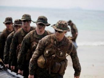 ВСША 22 морских пехотинца пострадали научениях