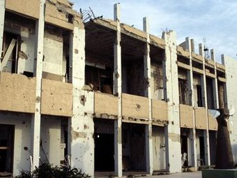 Удары по резиденции Каддафи.
