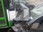 ВРостове вДТП с«Опелем» иавтобусом «ЛИАЗ» пострадала 67-летняя пассажирка