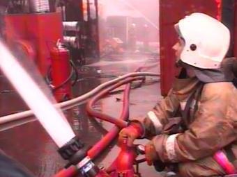 В Москве сгорел огромный склад