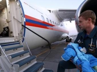Борт МЧС приземлится вМоскве сдетьми изДонбасса