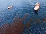 Разлив нефти в Северном море