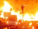 При пожаре вкрупнейшем выставочном комплексе Египта пострадали 16 человек