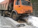 «КамАЗ» с8 тоннами зерна перевернулся натрассе «Москва-Астрахань»