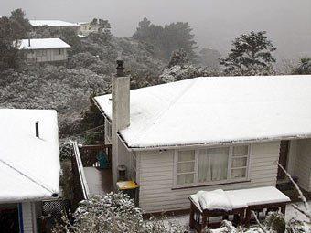 В Новой Зеландии сильнейший за последние 70 лет снегопад