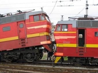 ВКемеровской области столкнулись два грузовых поезда