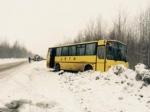 Под Нижневартовском легковушка протаранила автобус сдетьми