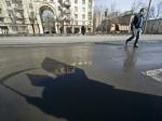 ВМоскве полицейский намотоцикле сбил пешехода