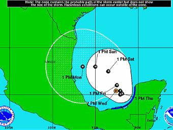 В Мексиканском заливе зародился тропический шторм