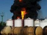 Врезультате пожара нанефтебазе 1 человек погиб— ГСЧС