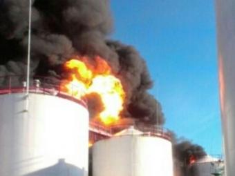 Российская Федерация предложила Украине помощь втушении пожара нанефтебазе