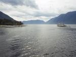 Затонувший катер «Волга» поднят со дна Телецкого озера