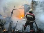 Под Красноярском горит сухогруз стопливом наборту