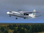 ВОхотске аварийно сел самолет Ан-24 из-за отказа двигателя