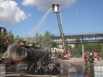 ВПетербурге при пожаре назаводе «Пигмент» пострадали два человека