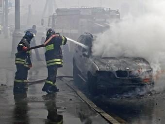 В Москве за ночь сгорели пять автомобилей