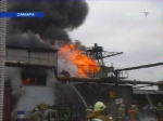При пожаре на самарском заводе сгорели два склада с поролоном