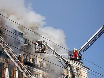 Пожар в московской больнице им. Бурназяна