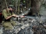 На Камчатке ведутся работы по тушению природного пожара